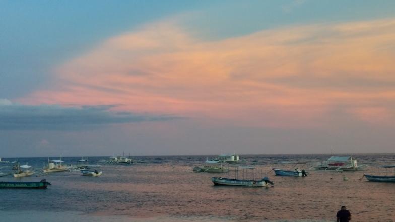 Sunset on Alona Beach
