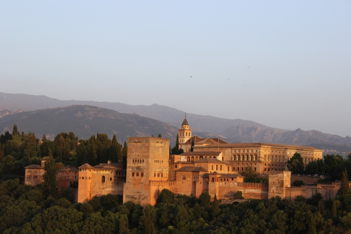 Alhambra at sunset